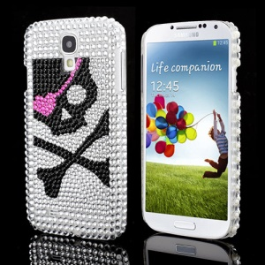 One-eyed Skull Sparkling Rhinestone Protective Hard Case for Samsung Galaxy S IV 4 i9500 i9505