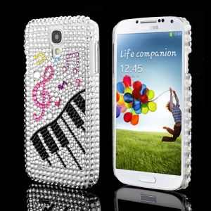 Bling Piano Key Music Notes Swarovski Rhinestone Case Cover for Samsung Galaxy S IV 4 i9500 i9505