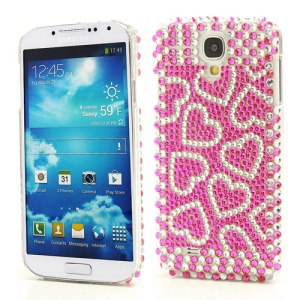 Rose Hearts Rhinestone Case Cover for Samsung Galaxy S IV 4 i9500 i9505