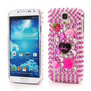 Sparkly Flower Stawberry Diamond Case for Samsung Galaxy S IV 4 i9500 i9505