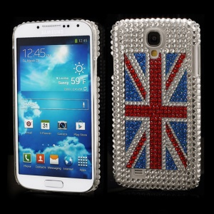 Shining Union Jack Rhinestone Case Shell for Samsung Galaxy S IV 4 i9500 i9505