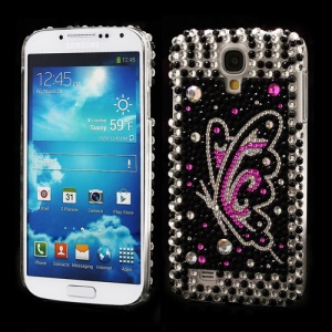 Fluttering Butterfly Rhinestone Case Cover for Samsung Galaxy S IV 4 i9500 i9505