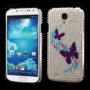 Beautiful Butterflies Rhinestone Case Cover for Samsung Galaxy S IV 4 i9500 i9505