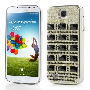 Black Crystal Diamond Plating Hard Back Case for Samsung Galaxy S IV 4 i9500 i9505 i9502