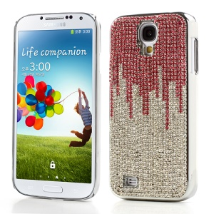 Sparkling Rose & Silver Diamonds Plating Hard Skin Case for Samsung Galaxy S IV 4 i9500 i9505 i9502