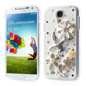 For Samsung Galaxy S4 IV i9502 3D Blossom & Eagle Design Shiny Rhinestone Hard Cover