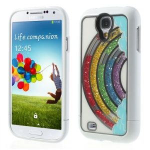 Colorful Rainbow Diamond Inlaid for Samsung Galaxy S4 I9502 3 in 1 Hard Shell
