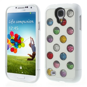 For Samsung Galaxy S4 I9502 Detachable Hard Back Shell Colorized Dots Diamond Inlaid