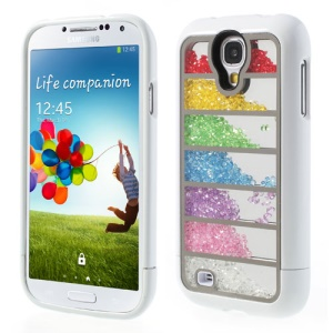 Colorized Stripe Diamante Inlaid for Samsung Galaxy S4 I9502 Detachable Hard Back Shell