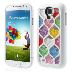 Colorized Net Style for Samsung I9505 Galaxy S4 Diamante Inlaid 3 in 1 Hard Skin Case