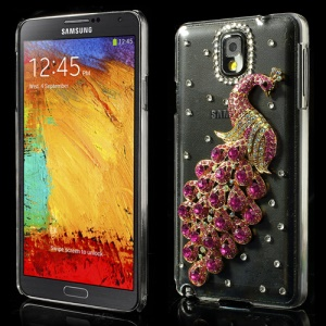 Rose Luxury Peacock Crystal Diamond Cover for Samsung Galaxy Note 3 N9000 N9002