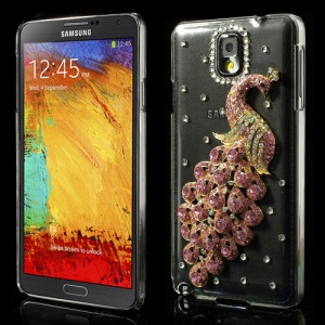 Pink Luxury Peacock Crystal Diamond Cover for Samsung Galaxy Note III N9000