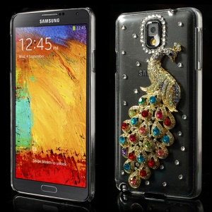 Colorized for Samsung Galaxy Note 3 N9002 Sparkling Peacock Crystal Diamond Case