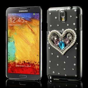 Sparkling Rhinestone Pearl Sweet Crystal Cover for Samsung Galaxy Note 3 N9005 N9002 N9000