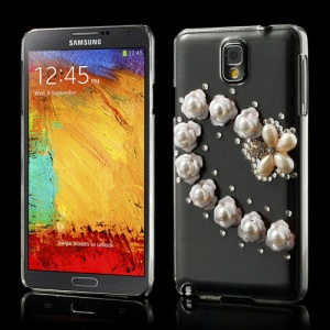 Bling Bling Rhinestone Pearl Flowers Crystal Shell Case for Samsung Galaxy Note 3 N9005 N9002 N9000