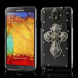 Twinkling Rhinestone Cross Crystal Shell Cover for Samsung Galaxy Note 3 N9005 N9002 N9000