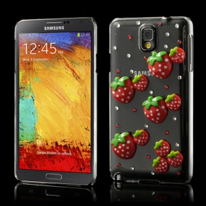 Bling Bling Strawberries Rhinestone Case for Samsung Galaxy Note 3 N9005 N9002 N9000