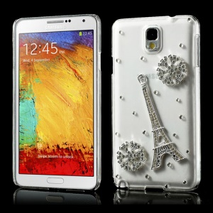 3D Bling Diamond Snowflake & Eiffel Tower Crystal Cover for Samsung Galaxy Note 3 N9002