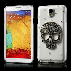 For Samsung Galaxy Note 3 N9000 3D Metal Skull Rhinestone Crystal Case