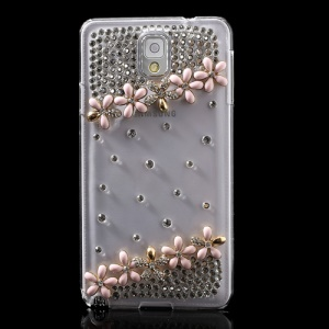 Pink for Samsung Galaxy Note 3 N9002 Sparkling Diamond Flower Crystal Case