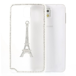 Eiffel Tower Diamante PC + TPU Hybrid Shell for Samsung Galaxy Note 3 N9002 - White