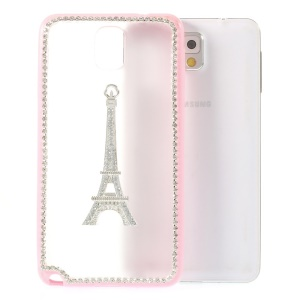 Eiffel Tower Diamante PC + TPU Hybrid Case for Samsung Galaxy Note 3 N9005 - Pink