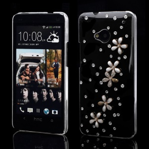 Daisy Flower Crystal Rhinestone Case for HTC One M7 801e
