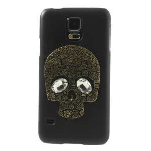 Gold Skull Crystal Black PC Case for Samsung Galaxy S5 G900 G900F G900T G900V