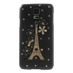 Handmade Paris Eiffel Tower Flower Diamond Case for Samsung Galaxy S5 G900