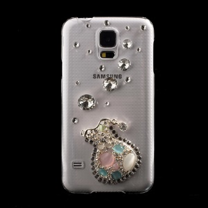 Amazing 3D Vase Rhinestone PC Crystal Cover for Samsung Galaxy S5 G900 GS 5