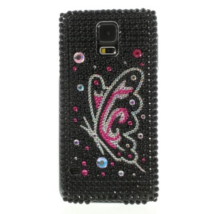 Flying Butterfly Rhinestone Hard Case for Samsung Galaxy S5 G900