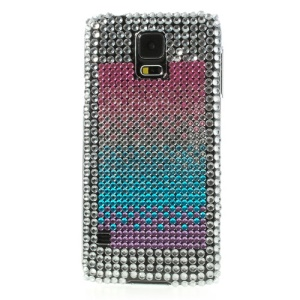 Rainbow Rhinestone Hard Plastic Case for Samsung Galaxy S5 G900