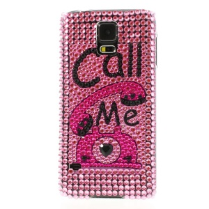 Call Me Telephone Rhinestone Hard Case Accessory for Samsung Galaxy S5 G900
