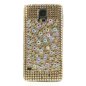 Gold Rhinestone Hard Cover Case for Samsung Galaxy S5 G900