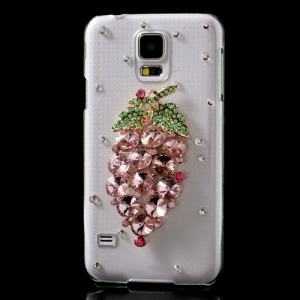 Amazing Diamond 3D Grape for Samsung Galaxy S5 G900 Crystal Cover Case