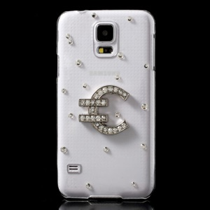 Euro Symbol Diamond Crystal Hard Case for Samsung Galaxy S5 G900