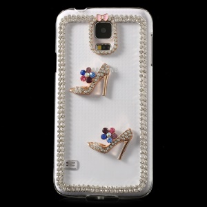 Deluxe Diamante High Heels Crystal Plastic Cover for Samsung Galaxy S5 G900