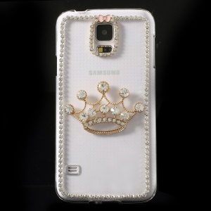 Shiny Rhinestone Crown Clear Crystal Hard Shell for Samsung Galaxy S5 G900