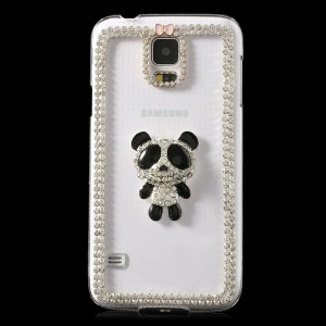 Luxury Diamond Cute Panda Clear Crystal Hard Cover for Samsung Galaxy S5 G900