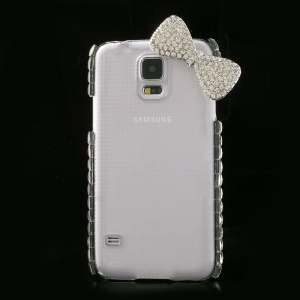 Rhinestone Bowknot Crystal Clear Hard Case for Samsung Galaxy S5 G900