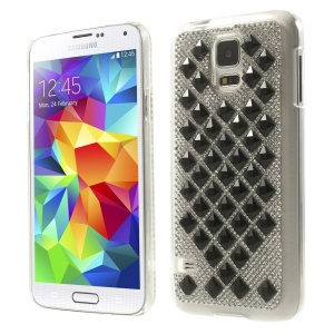 3D Square Crystal Diamond Plastic Cover for Samsung Galaxy S5 G900 - Black