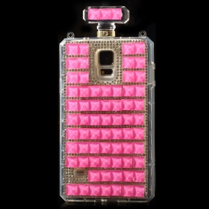 Rose for Samsung Galaxy S5 G900 Bling Diamond Perfume Bottle TPU Back Case