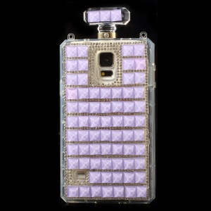 Purple for Samsung Galaxy S5 G900 Bling Diamond Perfume Bottle TPU Back Shell