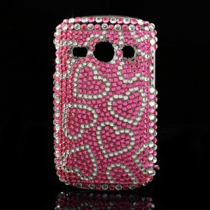Rose Hearts Rhinestone Case Cover for Samsung Galaxy Fame S6810