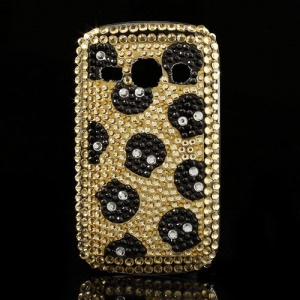 Skull Head Gold Diamond Sparkling Hard Case for Samsung Galaxy Fame S6810