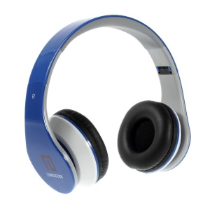 Blue Langston iM-12v Overhead Stereo Headphone with Mic for iPhone Samsung HTC LG Sony MP3 MP4 Etc