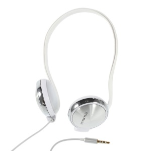 White Langston Earhook Headset with Mic for iPhone Samsung HTC Sony Huawei Nokia Etc