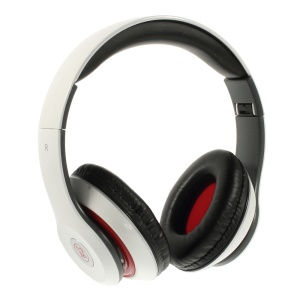 White Langston IM-M801 Extra Bass Stereo Headphone with Mic for iPhone Samsung HTC LG Sony etc