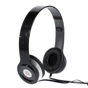 Black Langston IM-6 Super Bass Foldable Over-ear Headset with Mic for iPhone iPad Samsung HTC LG Huawei Xiaomi etc