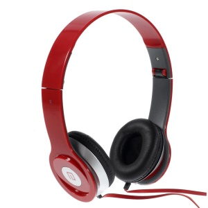 Red Langston IM-6 Super Bass Foldable Over-ear Headset with Mic for iPhone iPad Samsung HTC LG Huawei Xiaomi etc